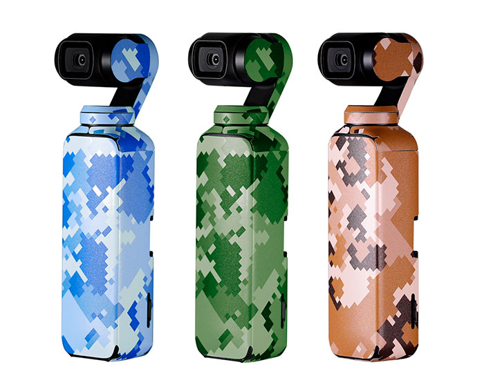 PGYTECH 3-Pack Camouflage Adesivi per DJI Osmo Pocket