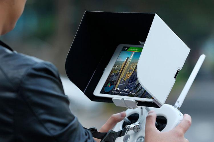 schermo parasole tablet per radiocomando dji