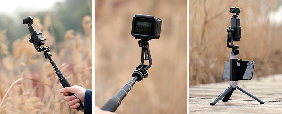 PGYTECH Staffa di montaggio a L per DJI Osmo Pocket e GoPro