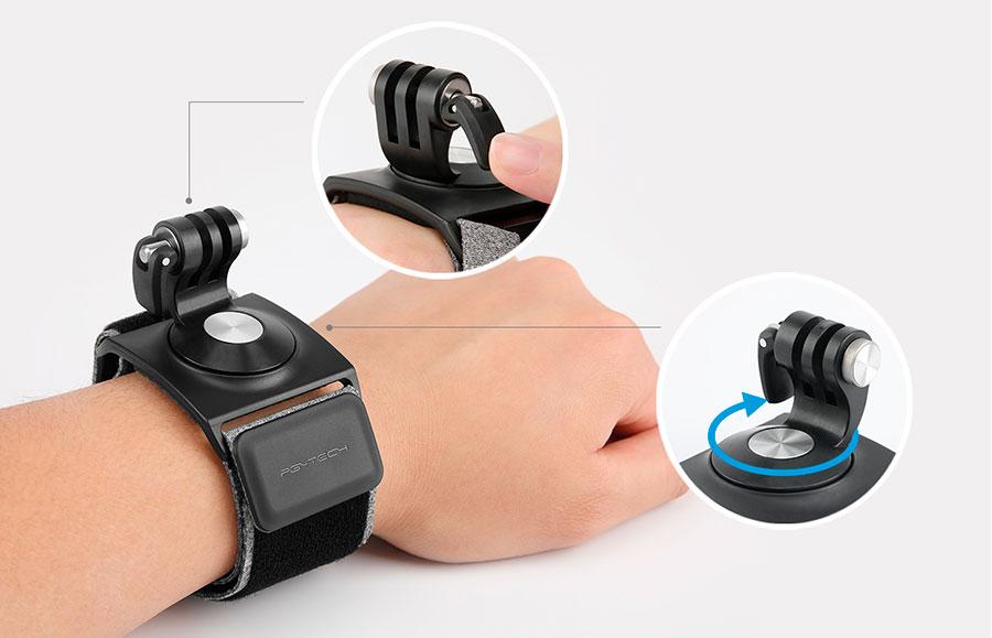 PGYTECH supporto mano e polso per GoPro e Osmo Pocket