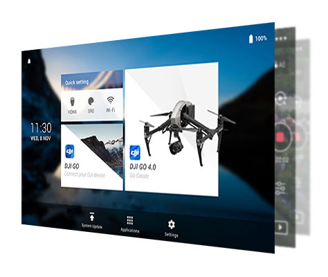 monitor drone dji crystal sky