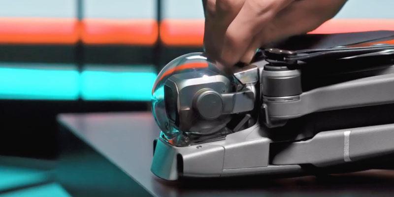 dji mavic 2 video tutorial protezione gimbal