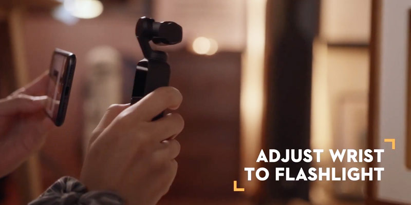 dji osmo pocket video tutorial flash light