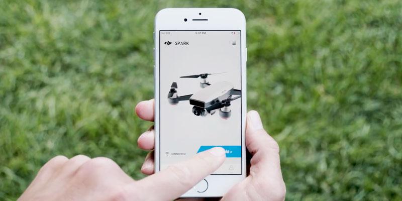 dji spark video tutorial pilotaggio tramite dispositivo mobile