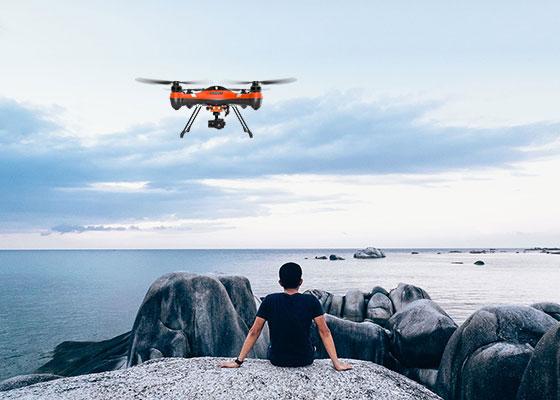 drone impermeabile