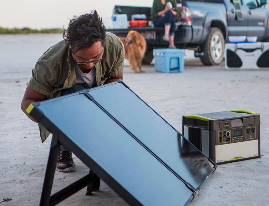 pannello solare 100W trasportabile