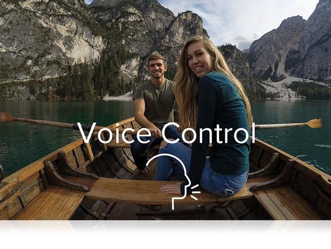 gopro hero7 silver controllo vocale