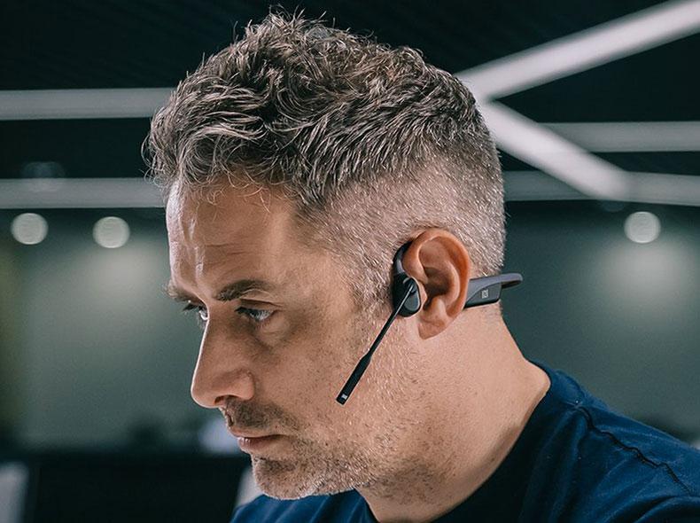 Auricolari Bluetooth a Conduzione Ossea OpenComm con Microfono