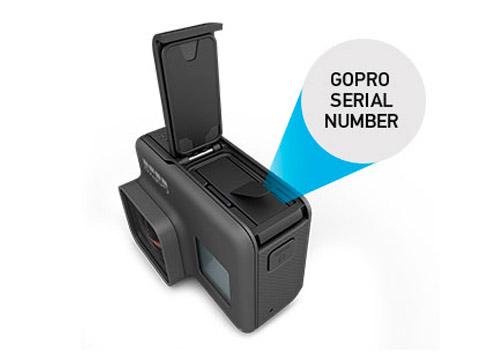 numero seriale gopro hero5
