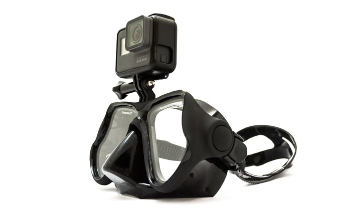 GoMask Evolution Nero Maschera Subacquea con Supporto GoPro