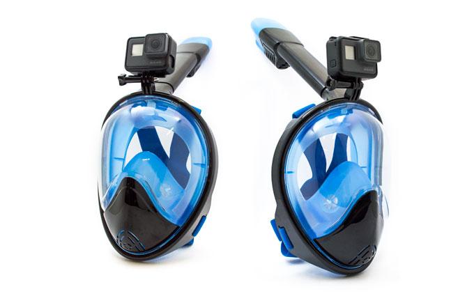 GoMask GrandView 180° Maschera Snorkeling integrale GoPro
