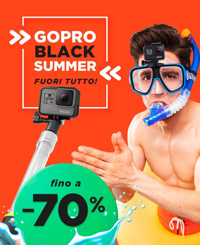 Fuori tutto GoPro con sconti fino al 70%