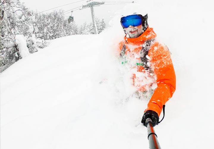 action cam snowboard