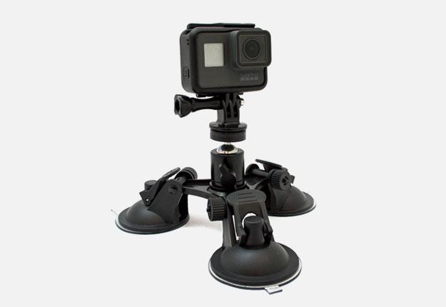 GoCamera Supporto Tripla Ventosa per GoPro