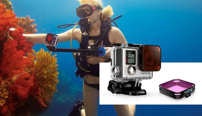 filtri subacquea gopro