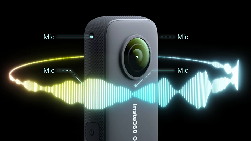 Insta360 ONE X2 - Audio a 360