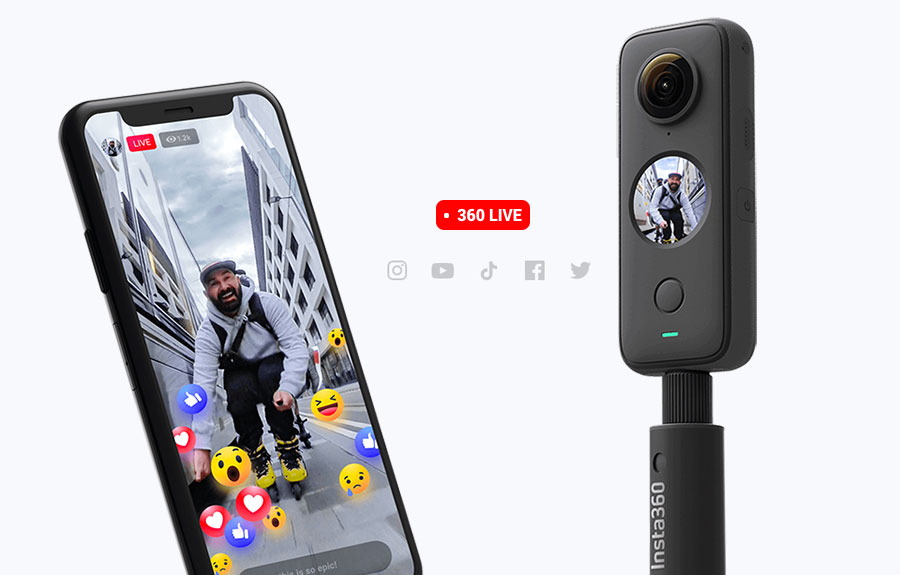 Insta360 ONE X2 - Live streaming