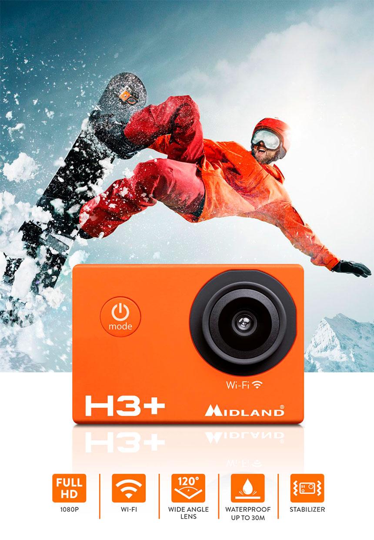 action cam midland h3 plus