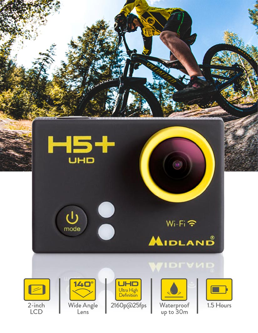 action cam midland h5 plus