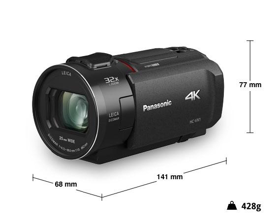 Panasonic videocamera 4K HC-VX1